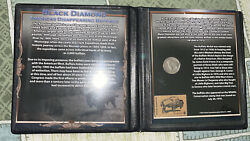 Black Diamond Americas Disappearing Buffalo First Commemorative Mint Coin /stamp