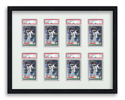 Psa Graded Card Frame Display Holds 8 Slabs Baseball Uv Protection Optional