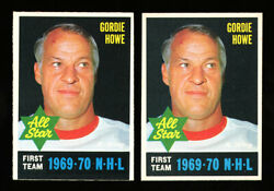 1970 O-pee-chee 238 Gordie Howe Perfectly Centered And Black Bottom Print Quality