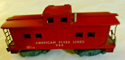 Vintage American Flyer Lines S Scale Red Caboose 938 A.c. Gilbert Used