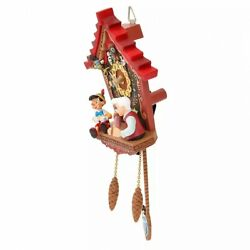 Disney Store Pinocchio Wood Wall Clock Story Collection Revival Antique