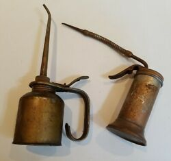 2 Vintage Eagle Oil Cans Very Good Condition