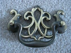 Vintage Queen Anne Drop Handle Bail Pull Antique Brass Finish 3 C To C
