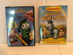 2 Veggietales Dvd's How To Draw And The Wonderful Wizard Of Ha's New Sealed