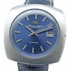 Old Inter R825a Blue Dial Cal. 8541b Auto Vintage Watch 1969and039s Overhauled
