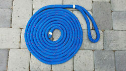 3/4 X 25and039 Double Braid Dock Line In Blue