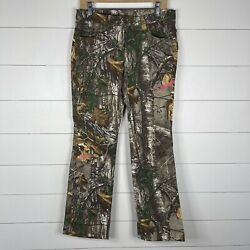 Under Armour Realtree Womens Green Camo Size 6 Hunting Scent Control Pants