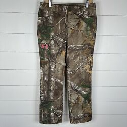Under Armour Realtree Womens Green Camo Size 6 Hunting All Seasons Gear Pants