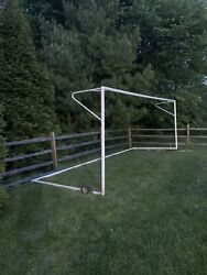 Official Sized 24x8 Kwikgoal Soccer Goal With Wheels And Brand New Net