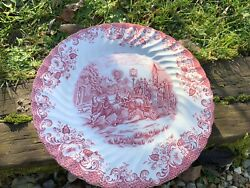 6 Assiettes 12 Plates Rose Johnson Brother Bros Dinner Plate Coaching Scenes