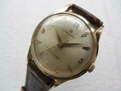 Hamilton Thin Automatic 14k Gold Case Automatic Vintage Watch 1950and039s Rare