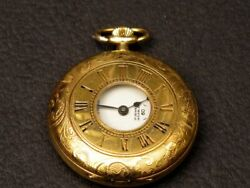 Vintage Swiss Made Pocket Watch Arnex Gold Plated Case, Manual Winding, Working