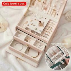 Leather Jewelery Boxes Large Cabinet Storage Drawer Gift Key Display Tool Y4w5