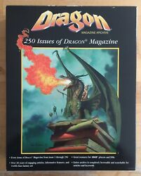 Adandd - Dragon Magazine Archive - 250 Issues In 5 Cds - Complete And Mint - Tsr