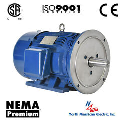 20 Hp Electric Motor 256td 3600 Rpm 3 Phase Premium Efficient Severe Duty