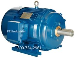 20 Hp Electric Motor 286t 3 Phase 1200 Rpm Tefc Severe Duty Pe286t-20-6