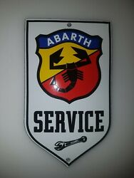 Abarth Service Sign Size = 6x4 Inch Porcelain Enamel Door/wall Emaille Schild