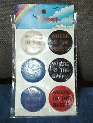 Vintage Wendy's Where Is The Beef Puffy Stickers Mip Where's The Beef