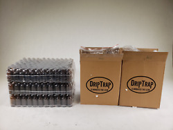 Lot Of 330 Drip Trap Amber Glass Bottles W/ Glass Droppers