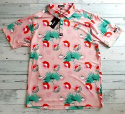 New Bad Birdie Golf Polo Menand039s Xxl 2xl Athletic Fit Performance S/s Shirt Nwt