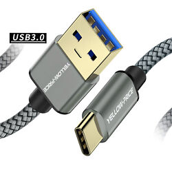 Fast Charger For Samsung Galaxy S20 Braided Metal Type C Usb-c Data Sync Cable