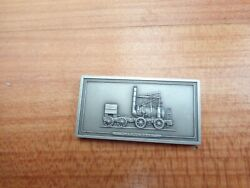 Wylam Colliery Puffing Billy Locomotive 1813 Pewter Plaque Ingot John Pinches