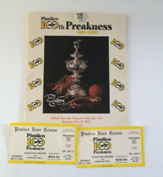 1975 Preakness Stakes Program Ticket Stub Pin Master Derby Horse Racing Souvenir