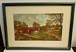 Herring's Fox-hunting Scenes ''end Of The Hunt'' Framed Print Picture Lithograph