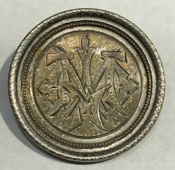 1879 Silver Morgan Dollar Vintage Brooch/ Pin, Great Detail And Relief
