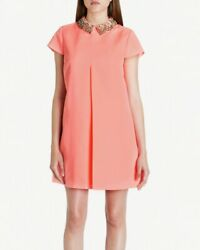 Ted Baker Coral Embellished Collar Tunic Dress Sz Xl Size 10 Women's Clothes