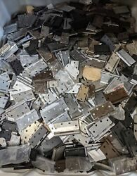 40 Lbs Assorted Lot Door Hinges Various Sizes And Finishes Approx 45 Pcs Wholesale