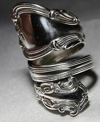 Gorham Chantilly Double Wrap Around Spoon Ring Handmade Sterling Silver Free S/h