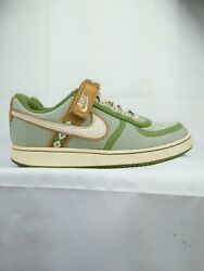 Preowned Nike Womens Shoes Size 6.5 Low Top Canvas Vandals, Tomatillo And Pearl