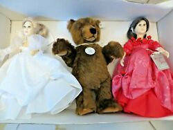 1987 Suzanne Gibson Margarete Steiff Bear 203 Snow White And Rose Red Doll In Box