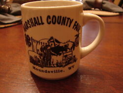 Vintage 4h Fair Advertsing Coffee Cup Marshall County Moundsville Wv Nice
