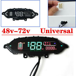Motorcyle Electric Bicycle Odometer Control Panel Dash Display For 48v 72v