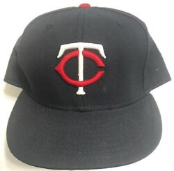 Vintage Mlb Minnesota Twins Authentic Collection New Era 7 5/8 Hat Nwot