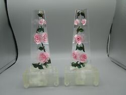 Vintage 1960and039s By Bircraft Lucite Night Light Stands