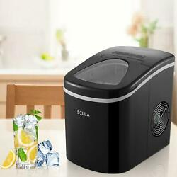 Portable Ice Maker Machine Countertop 26lbs/24h Self-cleaning W/ Scoop Black