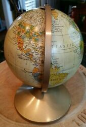 Antique Globe Replogle Revere Tin 1940s Great Colors Great Size Hard To Find
