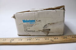 Webstone Lead Free Full Port Brass Ball Valve With Bleeder 1 H-50624w - 6 Pack