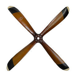Four Blade Wooden Propeller 47 Wwii Airplane Aviation Wall Mount Hanging Decor