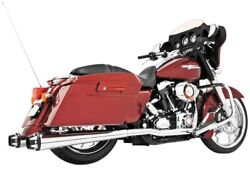 Freedom Performance Hd00281 American Outlaw Dual Exhaust System - Chrome Body W