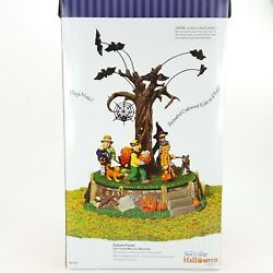 Dept 56 Halloween Costume Parade Moving Kids And Bats Animated Musical 55201 New