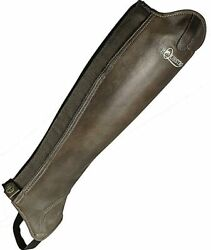 Dunster Leather Riding Leggings With Elastic Closure And Zip Equestro