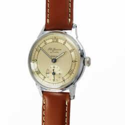 J.w Benson Tropical Small Second Manual Winding Vintage Watch 1950and039s