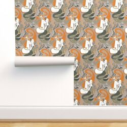 Removable Water-activated Wallpaper Mermaid Unicorn Mythical Magical Story