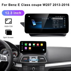 For Mercedes Benz E Class Coupe W207 2013-2016 12.3 Inch Android Car Gps Navi