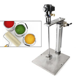 5 Gallon Auto Lifting Pneumatic Mixer W/stand Tank Barrel Paint Stainless Steel