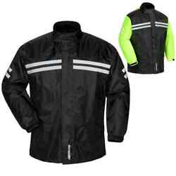 Tour Master Shield Two Piece Adult Mens Street Motorcycle Riding Rain Suits